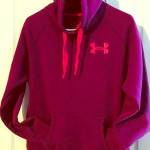 Under Armour hoodie Large pink